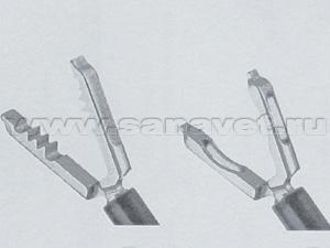 Атравматические захватывающие щипцы для труб и яичников. Травматические универсальные захватывающие щипцы