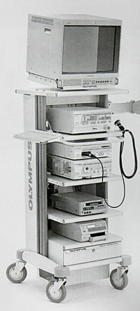 Цифровая видеоэндосопическая система и электрохирургический блок в сборке